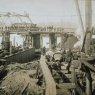 Work on foundation of the Bulkeley Bridge