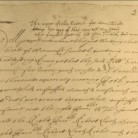 Detail of Warwick patent copy by John Winthrop, Jr., 1662