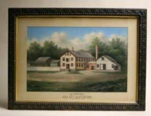 A water color of W. J. Squire's Gill Net Manufactory, East Haddam