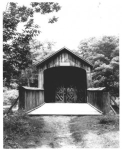 Comstock bridge from the east approach, 1975