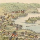 Detail from O.H. Bailey & Co.'s bird's eye view map of East Hampton