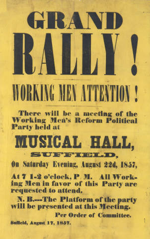 Broadside for the Working Men's Reform Political Party