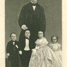 Mr. & Mrs. Tom Thumb, Commodore Nutt, Minnie Watson, and P.T. Barnum