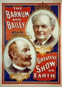 An 1897 poster advertising The Barnum & Bailey Greatest Show on Earth