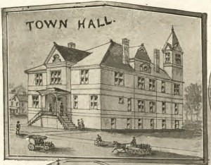 Detail of the Town Hall, Plainville