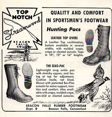 Top Notch shoe ad, Beacon Falls Rubber Footwear