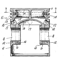 Fred S. Painter PistonPatent Number 1,557,871October 20, 1925