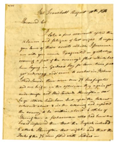 David Tracey letter to his Father, August 1814