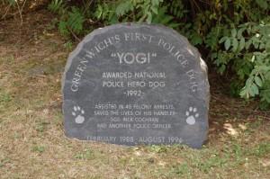 Yogi's gravestone
