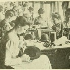 Trimming and binding the hats