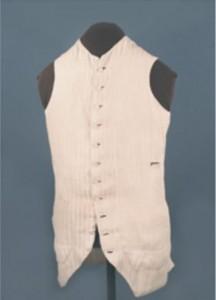 Linen Vest, about 1781