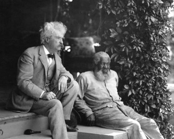 Mark Twain with his friend, John Lewis