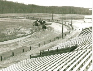 Track Construction of turns 1 & 2 in 1951