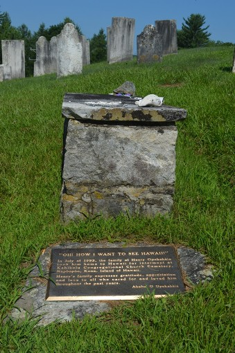 Henry Obookiah's grave