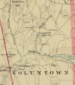 Detail of Voluntown map