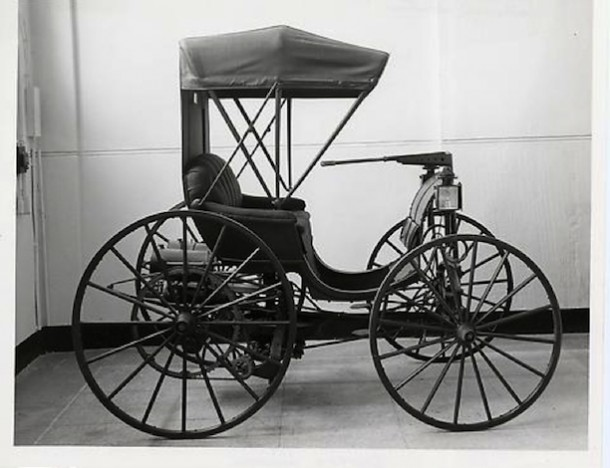 frank duryea drives the first automobile in connecticut. Black Bedroom Furniture Sets. Home Design Ideas