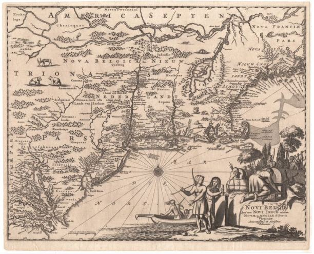 New Amsterdam, or New York map