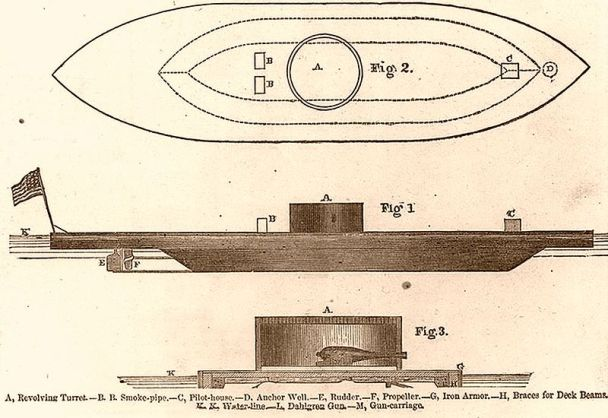 Plan of USS monitor, 1862