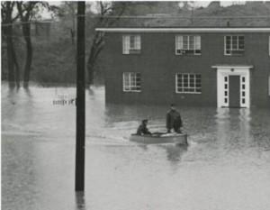 Flooding at Rice Heights, Hartford