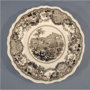 Plate with View of Montevideo, the estate of Daniel Wadsworth