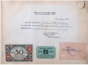Doctor's certificate, December 16, 1918