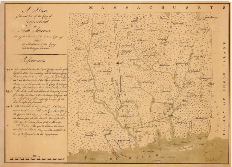 Map of the East Part of the Colony of Connecticut