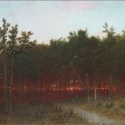 John Frederick Kensett, Twilight in the Cedars at Darien, Connecticut