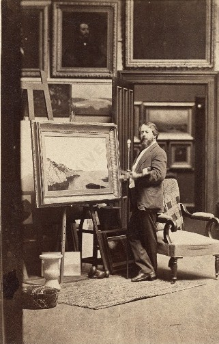 John Frederick Kensett in his studio, ca. 1866