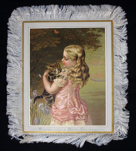 Fringed High Victorian card