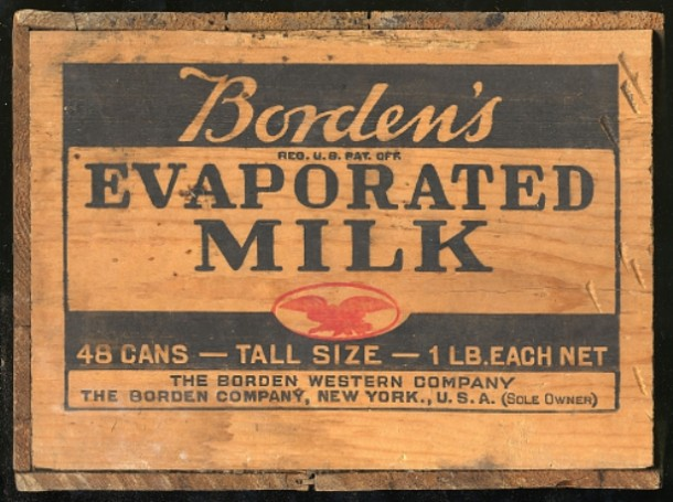Borden's Evaporated Milk Crate Label
