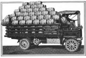 The Hubert Fischer Brewery delivery truck