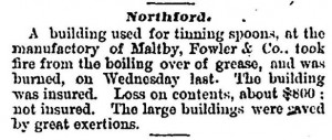 News item from the Columbian Register, August 1873