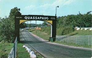 Postcard of the Entrance to Quassapaug