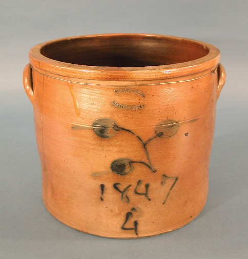 Jar or Crock. Made by Sidney Risley, 1847