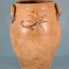 Salt-glazed stoneware jar. Made by Armstrong & Wentworth