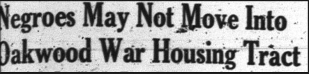 Headline from the December 16, 1943 Metropolitan News