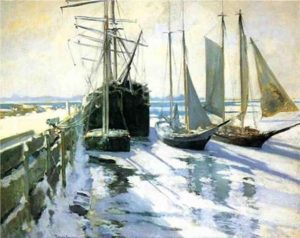 Connecticut Shore, Winter by John Henry Twachtman