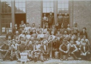 Casting shop employees, Benedict & Burnham Manufacturing Company