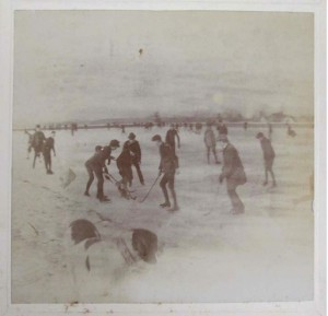 Boys Playing Hockey, ca. 1896