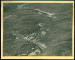 Aerial view of Riverton and the Barkhamsted Reservoir