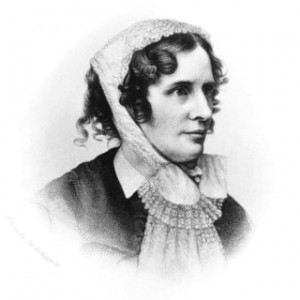 Engraving of Isabella Beecher Hooker, from the studios of J. A. Whipple and J. W. Black, 1868