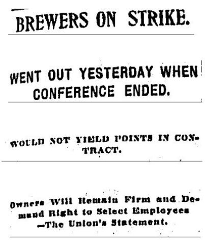 Hartford Courant article headline April 11. 1902