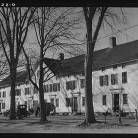 Old company house in Fitchville, Connecticut. The Palmer Brothers mill in town is busy with orders for comforters for the Army - Office of War Information, Library of Congress, Prints and Photographs Division