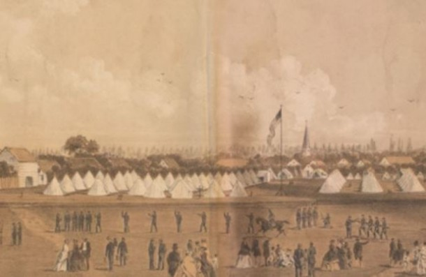 Camp of the 13th Regiment Connecticut Volunteers