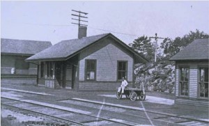 Railroad station, East Thompson, early 1900s