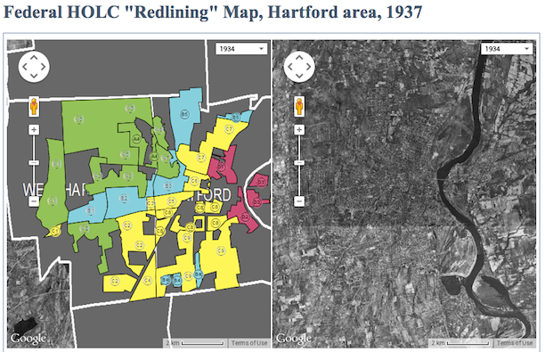 The Effects of Redlining on the Hartford Metropolitan Region