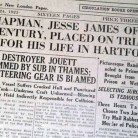 Headline from The Day, New London, March 24, 1925