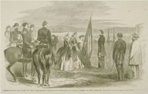 Presentation of a flag to the Thirteenth Connecticut Regiment