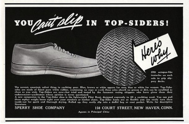 1938 ad for Sperry Topsider