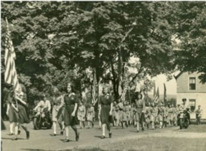Budleski Day Parade in Yalesville, May 28, 1944 - Connecticut Historical Society. Gift of Mary Jane Dapkus.